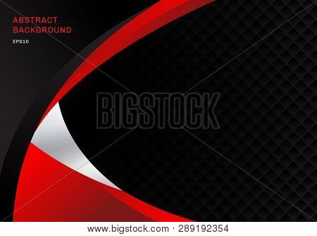 Template Abstract Red And Black Contrast Corporate Business Curves Background With Squares Pattern T
