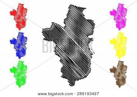 Ubon Ratchathani Province (kingdom Of Thailand, Siam, Provinces Of Thailand) Map Vector Illustration