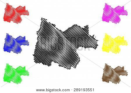 Uthai Thani Province (kingdom Of Thailand, Siam, Provinces Of Thailand) Map Vector Illustration, Scr
