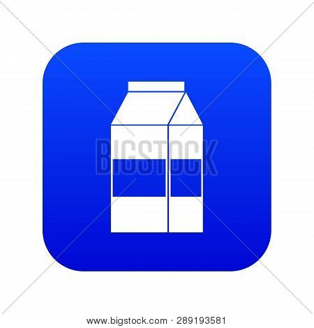 Box Of Milk Icon Digital Blue For Any Design Isolated On White Vector Illustration