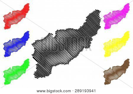 Uttaradit Province (kingdom Of Thailand, Siam, Provinces Of Thailand) Map Vector Illustration, Scrib