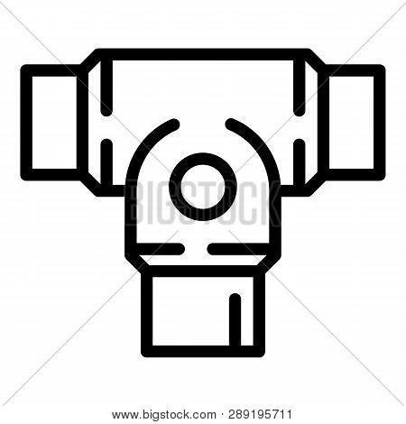 Rigid Clamp Icon. Outline Rigid Clamp Icon For Web Design Isolated On White Background
