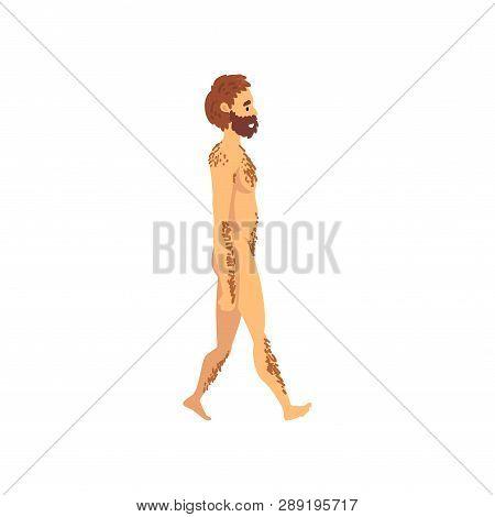 Male Cro Magnon, Biology Human Evolution Stage, Evolutionary Process Of Woman Vector Illustration
