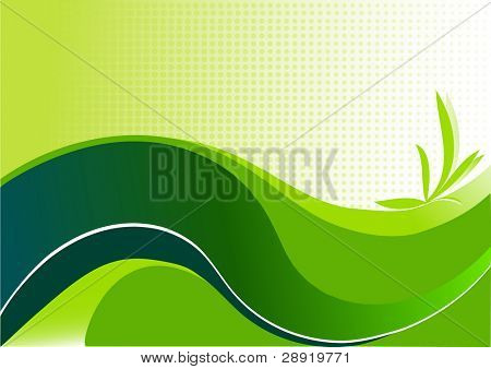 abstract background representative of the green power poster