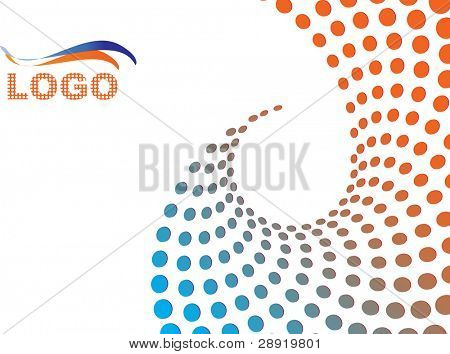 abstract halftone background with logo and copy space