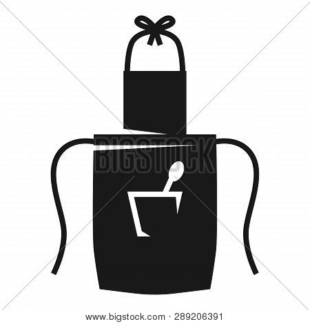 Pinafore With Spoon In Pocket Icon. Simple Illustration Of Pinafore With Spoon In Pocket Icon For We