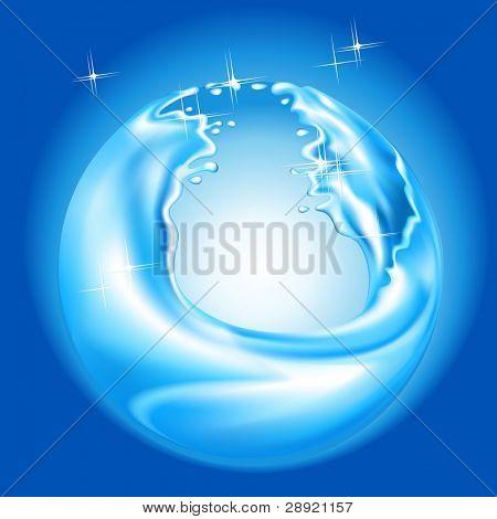 water splash with ball shape (mesh)