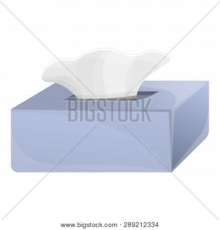 Wet Wipes Box Icon. Cartoon Of Wet Wipes Box Icon For Web Design Isolated On White Background