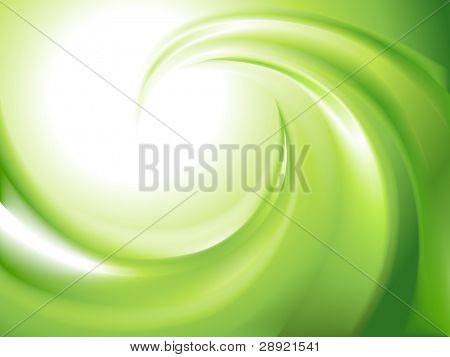 Abstract green swirl