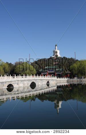 Stone Bridge And White Pagoda