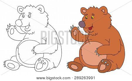 Coloring Pages For Childrens With Funny Animals,funny Bear