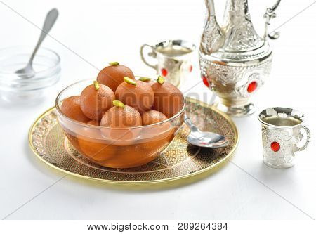 Gulab Jaman. A most demanding mithai known as King of  confectionery dessert poster