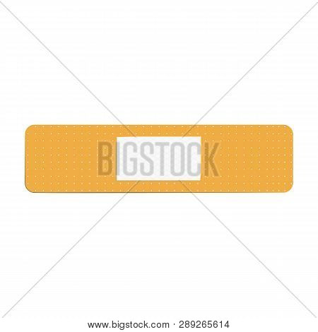 Adhesive Bandage Flat Icon. Treatment, First Aid, Scrape. Plaster Concept. Vector Illustration Can B