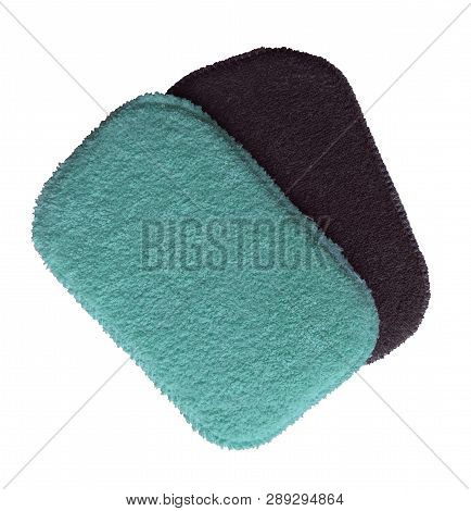 Set Of Washcloths Isolated On White. Clipping Path Included.