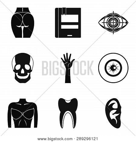 Dissection Icons Set. Simple Set Of 9 Dissection Icons For Web Isolated On White Background