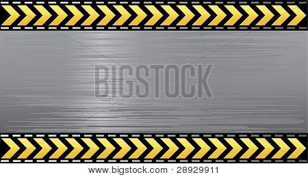 Under construction illustration vector layered banner danger