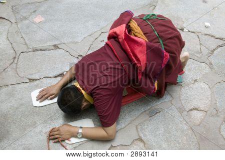 Tibetan Pilgrim In Lhasa