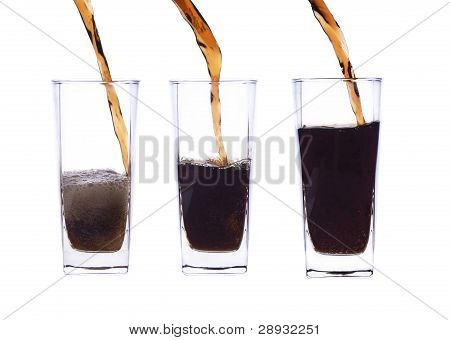 Pour, Fill A Glass Of Cola