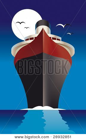 Vector illustration of a cruise liner