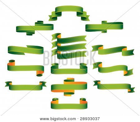 Ribbons, scrolls, banners - editable vector illustrations