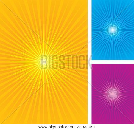 Starburst, sunburst vector illustration
