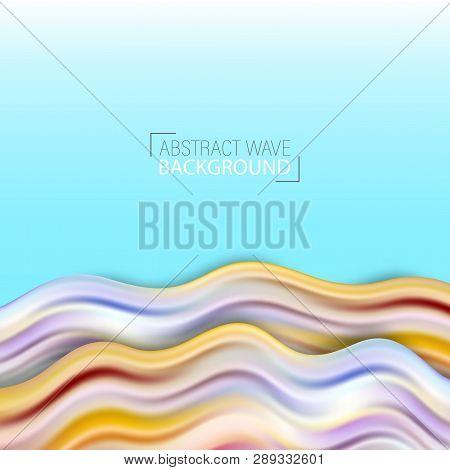 Wave Liquid Shape Color Background. Art Design For Your Design Project. Vector Illustration Eps10