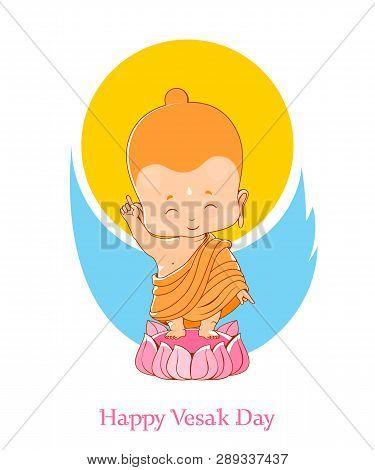 Little Buddha Birthday In The Lotus, Vesak Day
