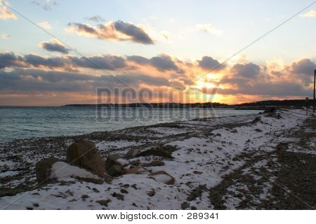 Wintry Beach Horizontal