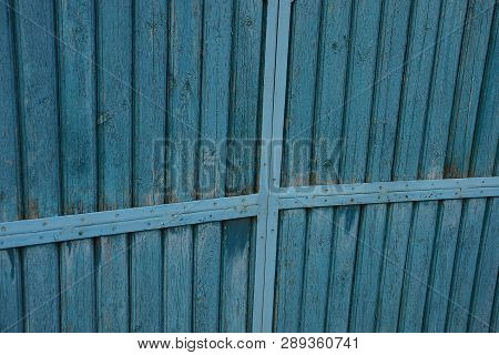 Blue Wooden Plank Texture At The Gate