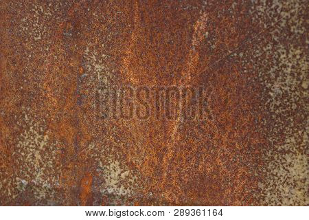 Brown Gray Metal Texture From Old Rusty Iron Wall