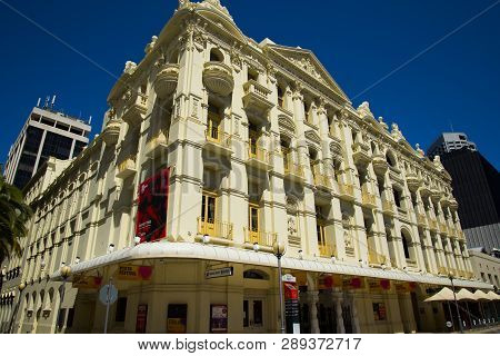 Perth, Australia - March 2, 2019: His Majesty Theatre Is A Baroque Style Theatre Completed In 1904