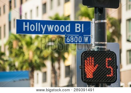 Hollywood Sign In Los Angeles, California