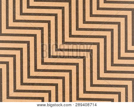 Brown Craft Paper With A Zigzag Pattern