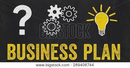 Question Mark, Gears, Light Bulb Concept - Business Plan