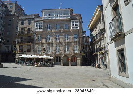 Constitution Square In Vigo. Nature, Architecture, History, Travel. August 16, 2014. Vigo, Pontevedr
