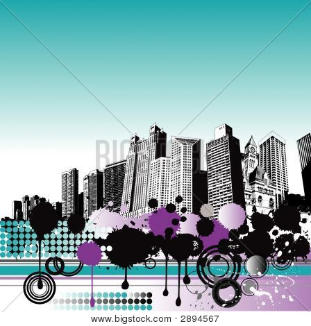 City Grunge Background