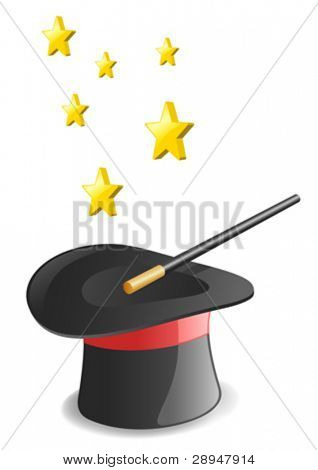 Magic hat. Vector
