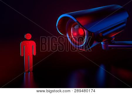 Big Cctv As A Metaphor Of Surveillance System Checking Personal Data In Security System. Obey And Pr