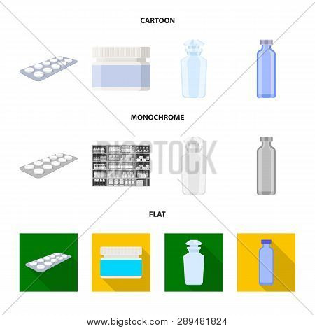 Isolated Object Of Retail And Healthcare Icon. Set Of Retail And Wellness Vector Icon For Stock.