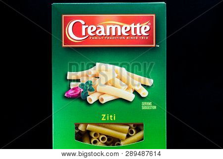 Creamette Ziti Pasta Container And Trademark Logo