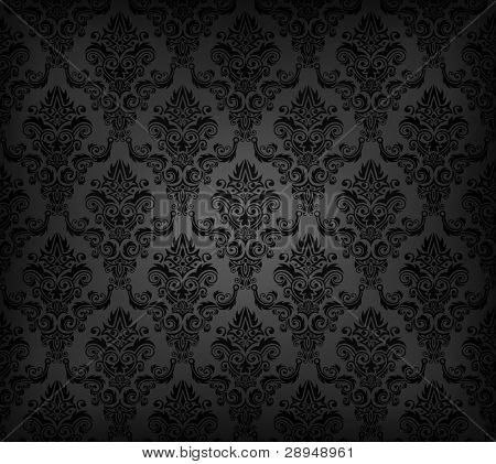 Vector illustration of black seamless wallpaper pattern