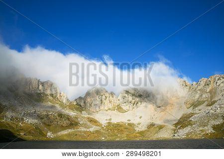 Acherito Lake in Oza Valley, Pyrenees in Spain.