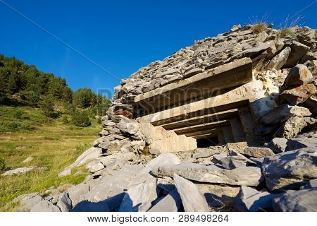 Bunker in Canfranc Valley, Pyrenees in Spain.