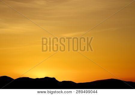 Sunset in Zaragoza Province, Spain.