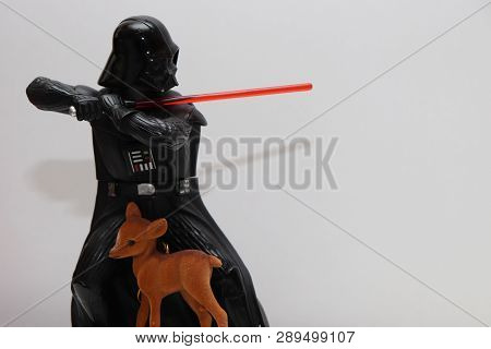 The Evil Darth Veader Protects His Little Bambi