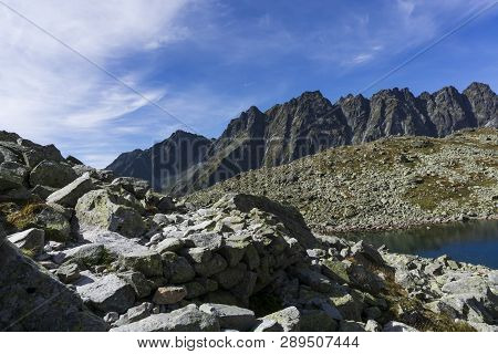 Beautiful Landscape Mengusovska Valley. High Tatra Mountains. Slovakia.