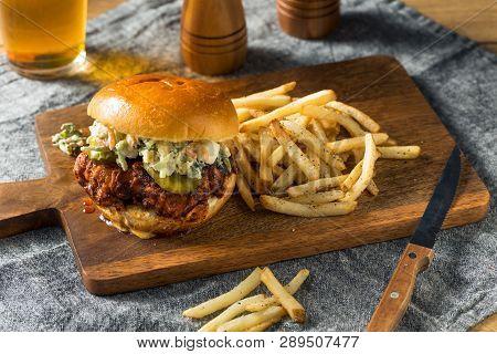 Homemade Spicy Nashville Hot Chicken Sandwich