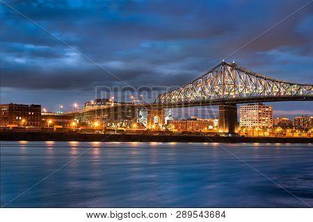 Jacques Cartier Bridge In Canada