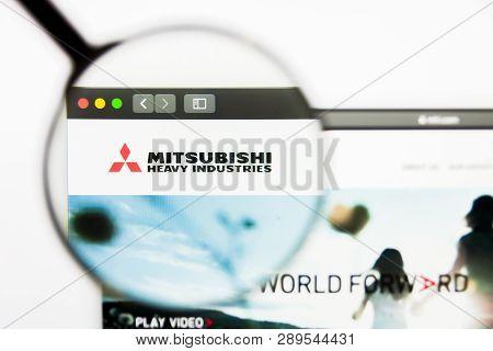 Los Angeles, California, Usa - 13 March 2019: Illustrative Editorial, Mitsubishi Heavy Industries We