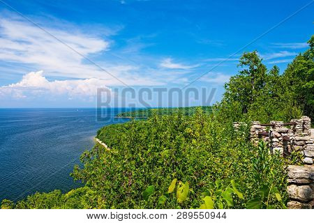 Scenic Overlook Of The Coast At Peninsula State Park